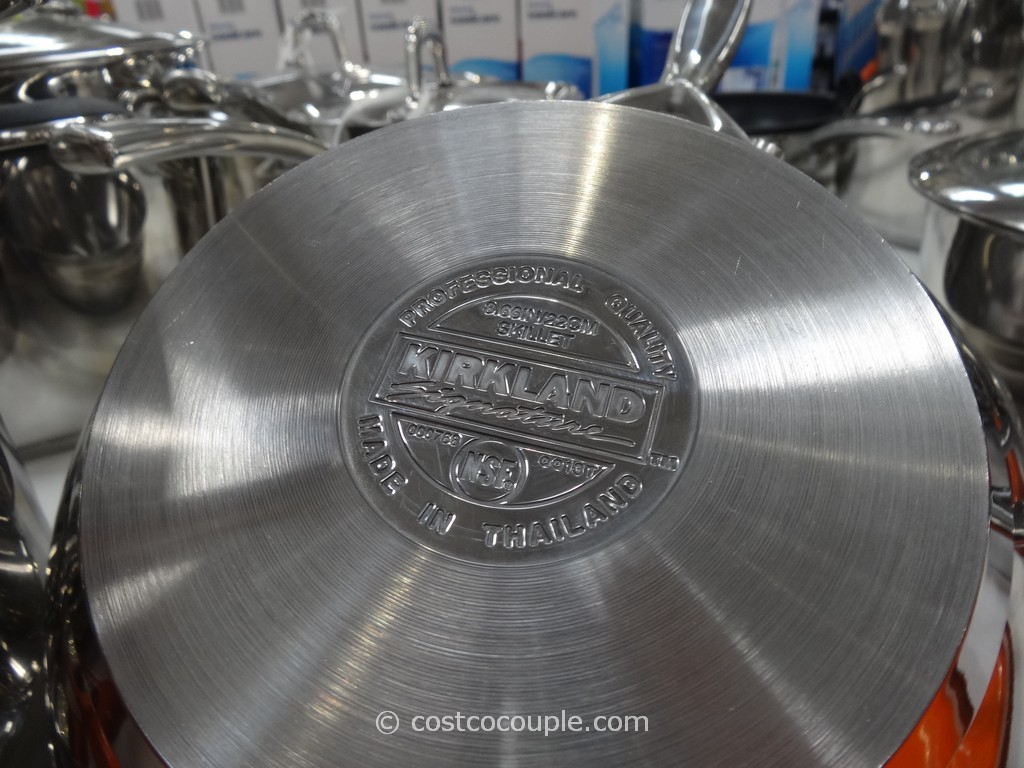 Kirkland Signature 13pc Stainless Steel Cookware Set Costco 3