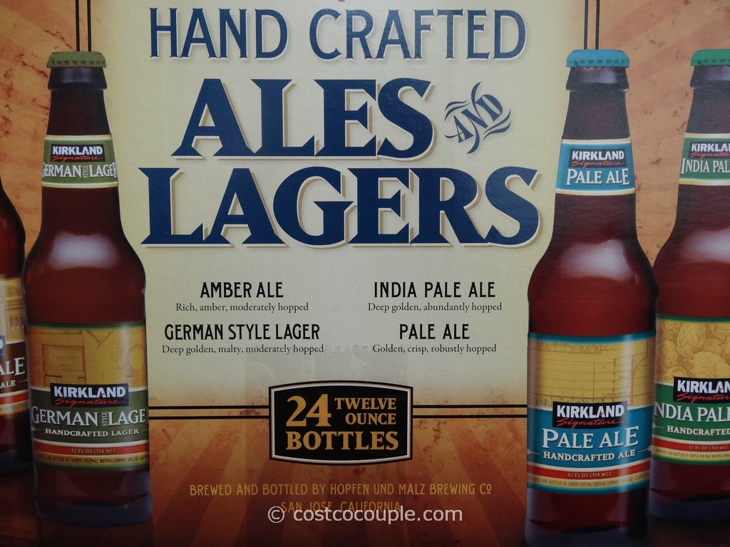 Kirkland Signature Handcrafted Ales and Lagers Costco 2