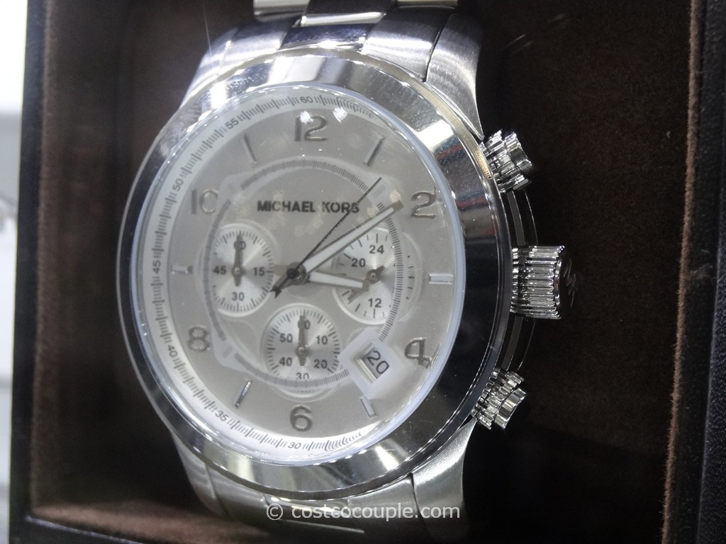 Michael Kors Runway Silver Chronograph Watch Costco 1