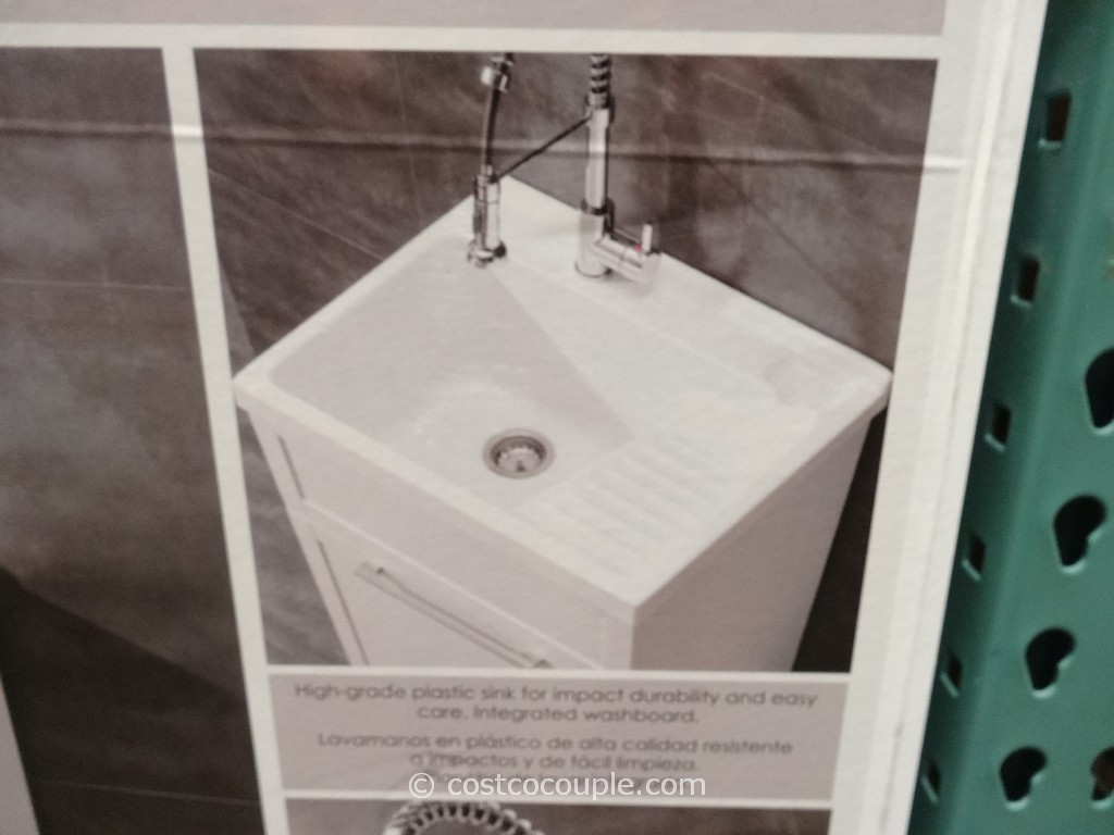 Ove Decors 28 Inch White Utility Sink With Faucet Costco 3