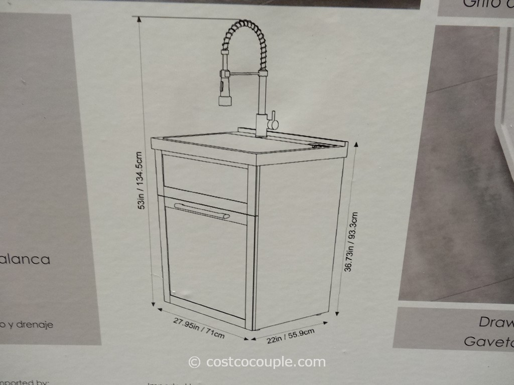 Ove Decors 28 Inch White Utility Sink With Faucet