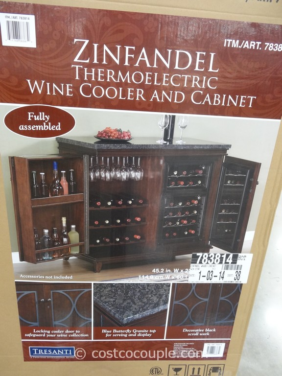 Twin Star Zinfandel Thermoelectric Wine Cooler And Cabinet Costco 2