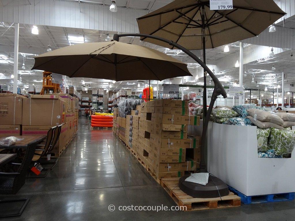 11 Foot Parisol Cantilever Umbrella Costco 2