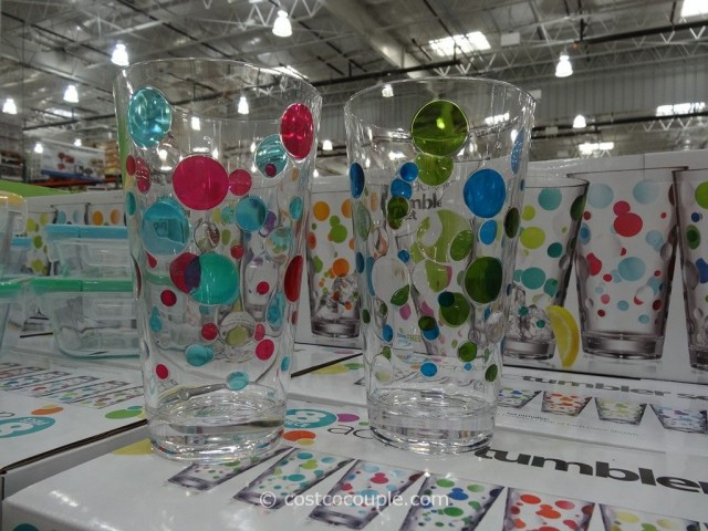 8-Piece Polka Dot Acrylic Tumbler Set