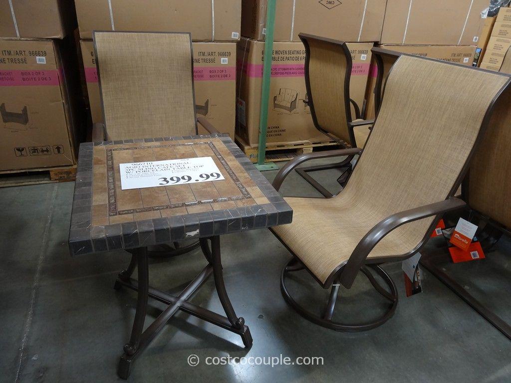 Agio International 3-Piece Sling Cafe Set Costco 2