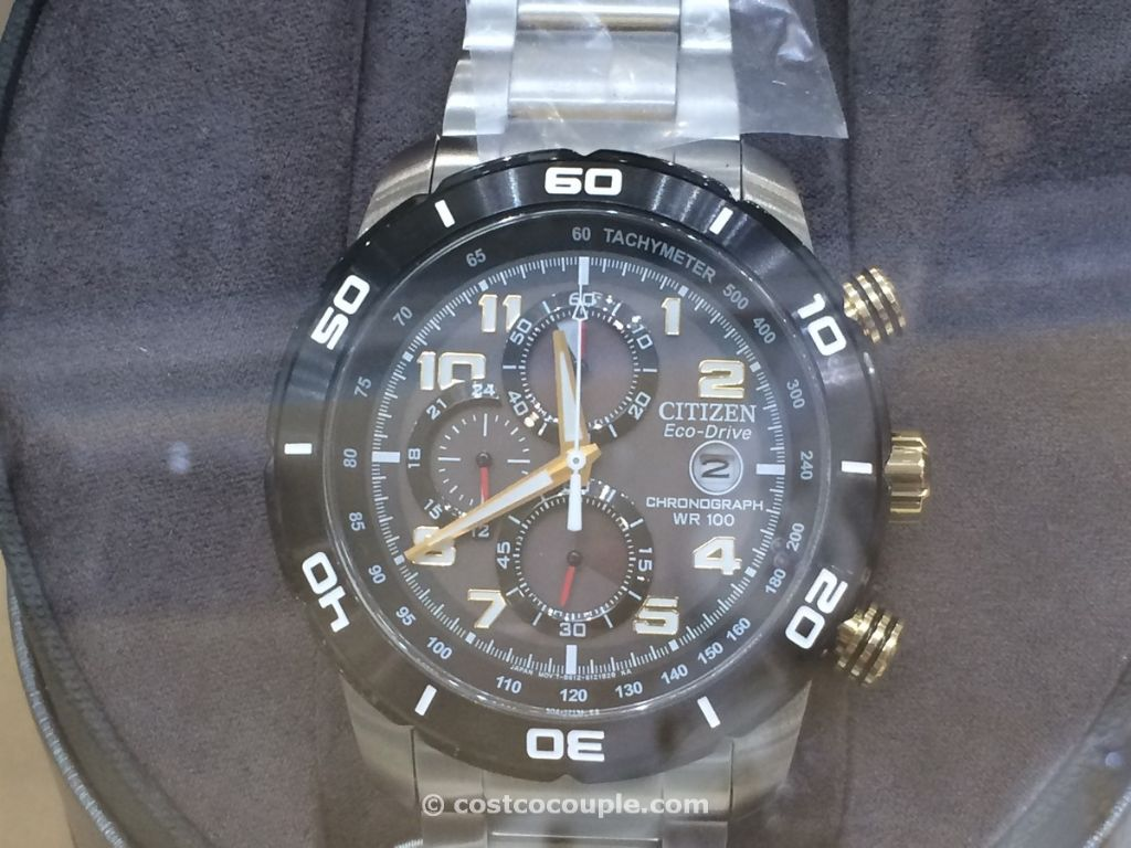 Citizen Eco Drive Chronograph Black Dial Costco 3