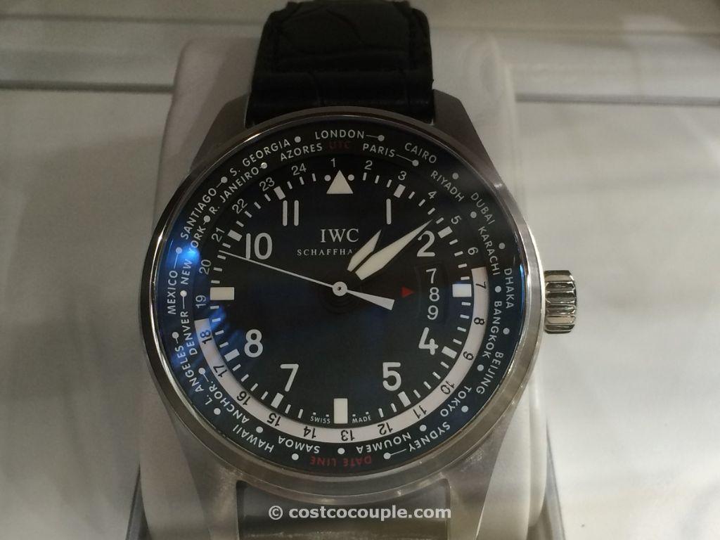 IWC Pilot Black Leather Automatic Costco 3