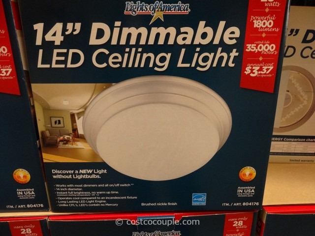 Lights Of America 14 Inch Dimmable Led Ceiling Light Costco 2
