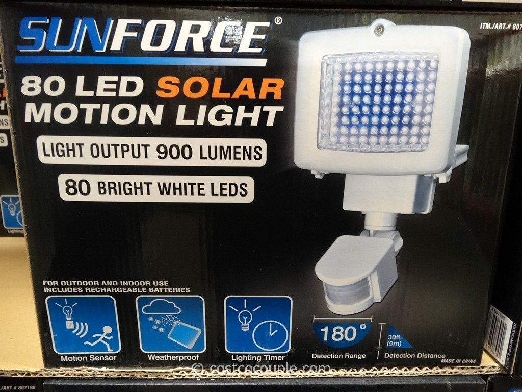 Sunforce LED Solar Motion Light Costco 2