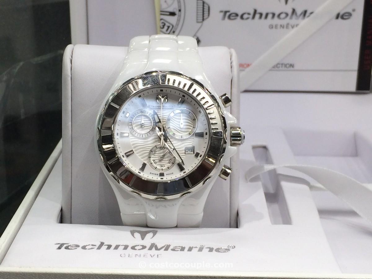 Technomarine Ladies Chronograph White Dial Ceramic Costco 2