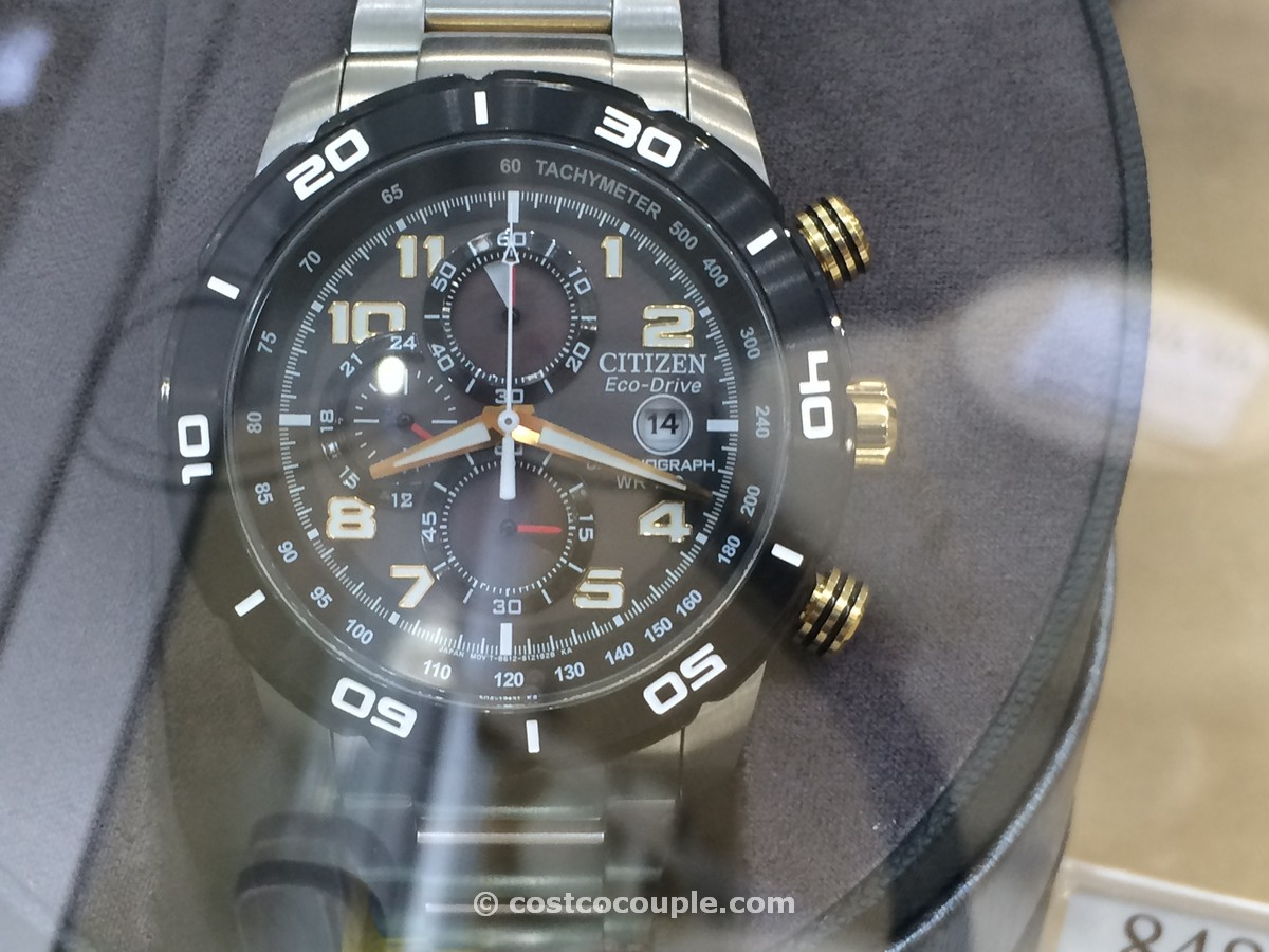 Citizen Eco Drive Chronograph Black Dial Costco 1