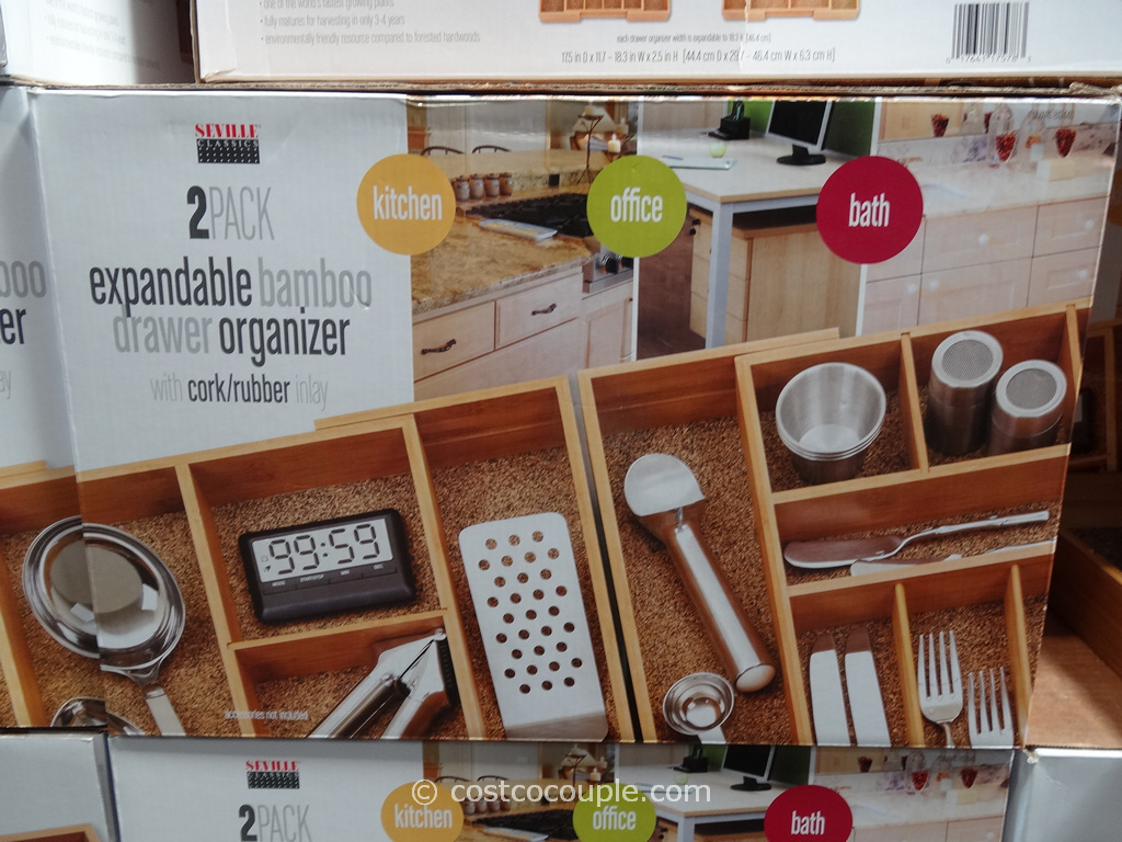 Seville Clics Bamboo Drawer Organizer Set Costco 3