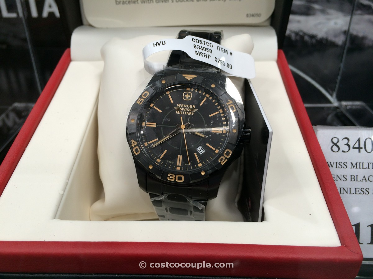 Wenger Swiss Military Black Ion Plated Costco 3