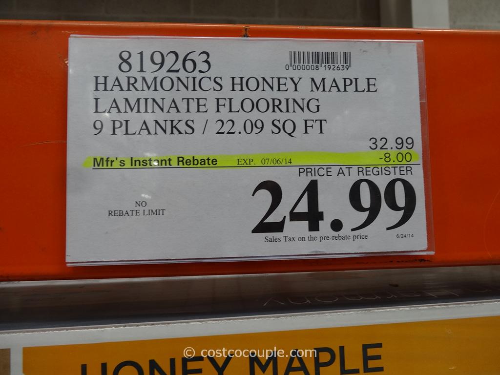 Harmonics Honey Maple Laminate Flooring