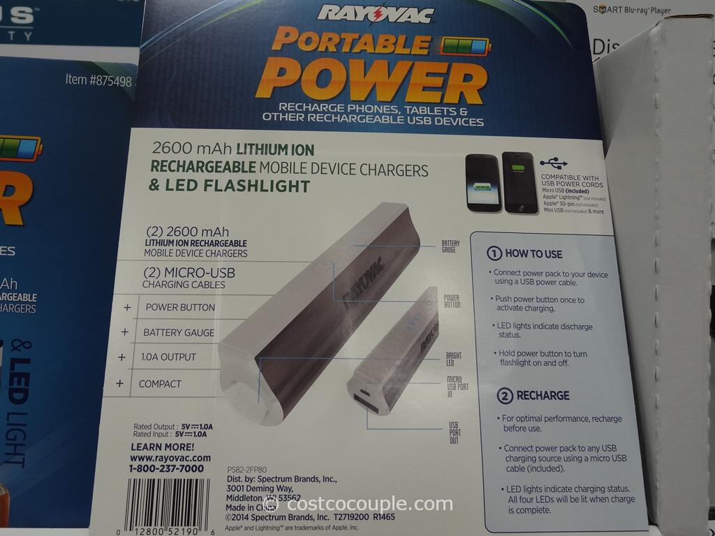 Rayovac Portable Power Pack Costco 3