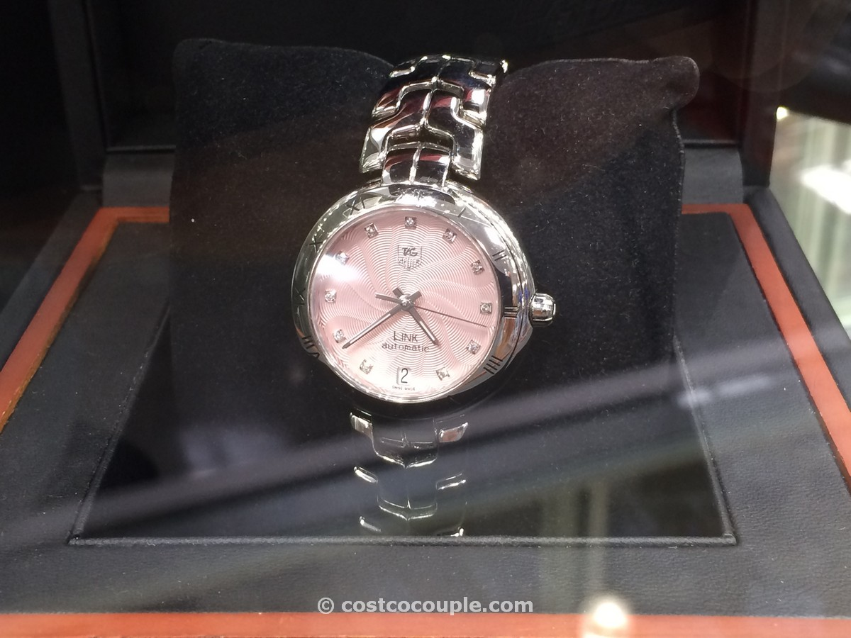 TAG Heuer Link Ladies Pink Dial Costco 2