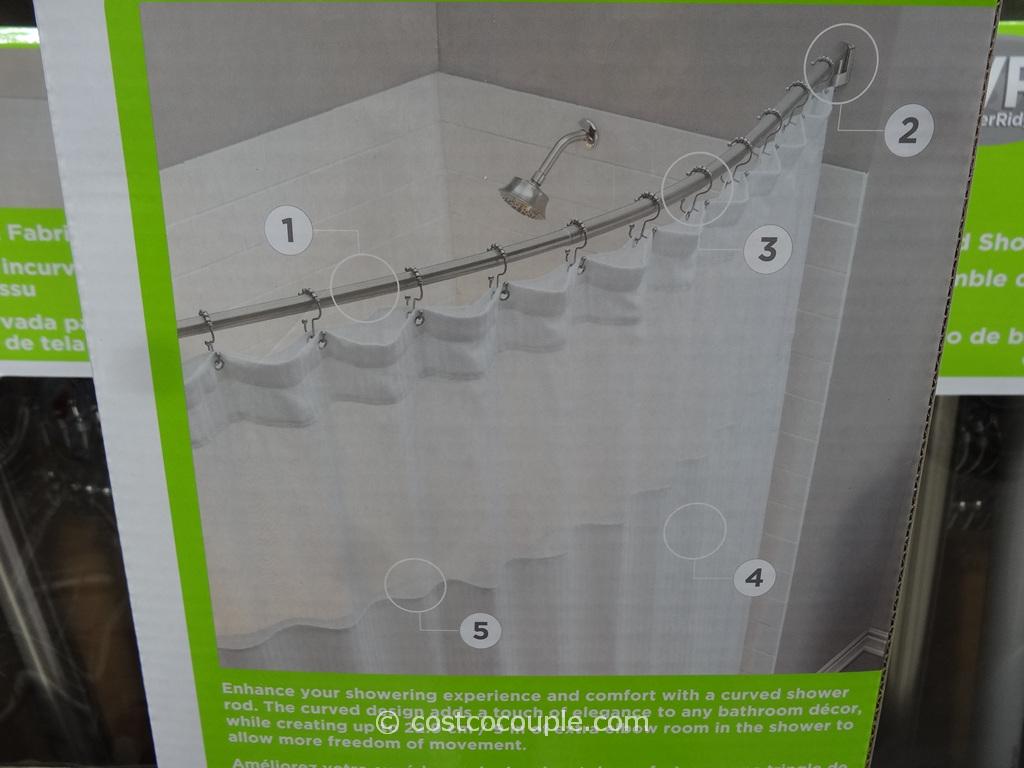 Water Ridge Curved Shower Rod Set