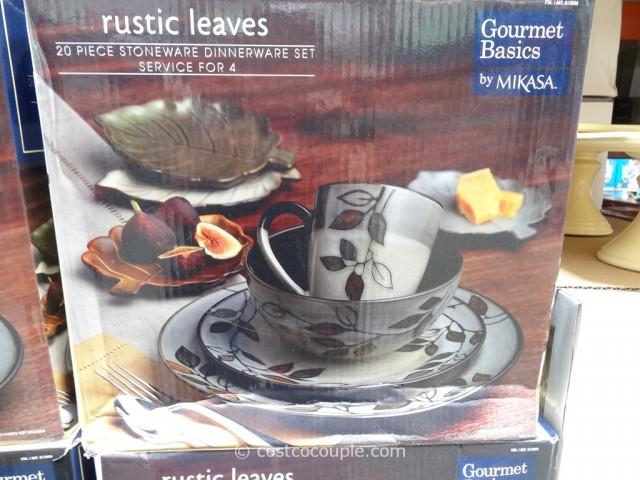 Mikasa Rustic Leaves Dinnerware Set