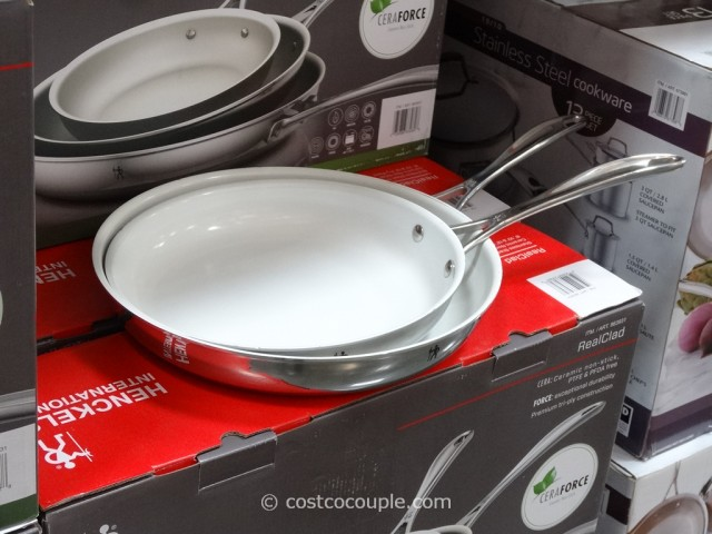 Ja Henckles 3 Piece Realclad Fry Pans Costco 2 Instead Of A Teflon Coating