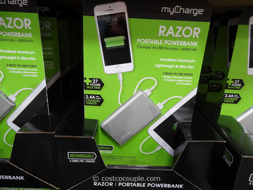 MyCharge Razor Portable Rechargeable Battery Pack Costco 2