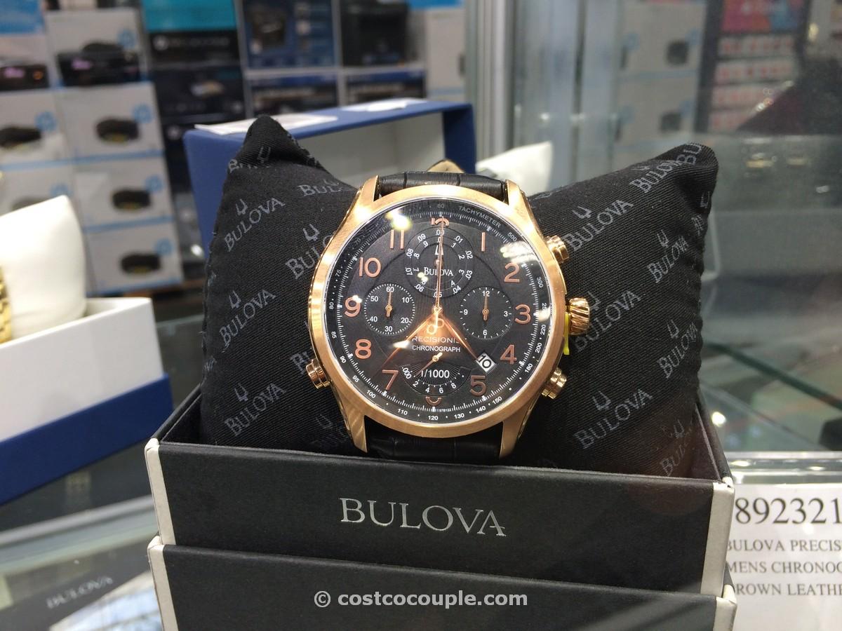 Bulova Precisionist Mens Chronograph Brown Leather Strap Costco 1