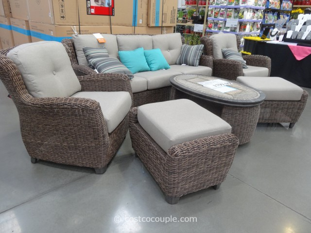 costco wicker furniture kirkland signature braeburn woven seating set 11289