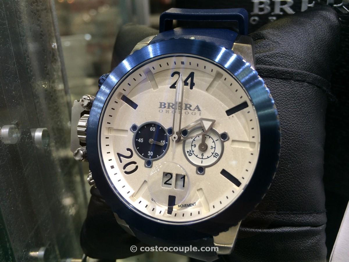 Brera Orologi Blue Rubber Strap Mens Chronograph Costco 2
