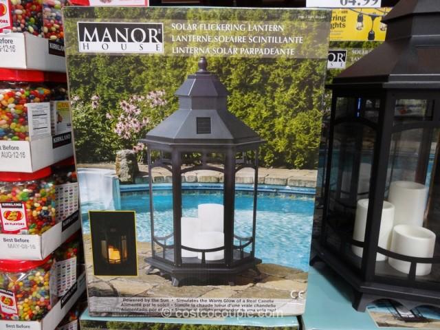 Manor House Solar Flickering Lantern Costco 3