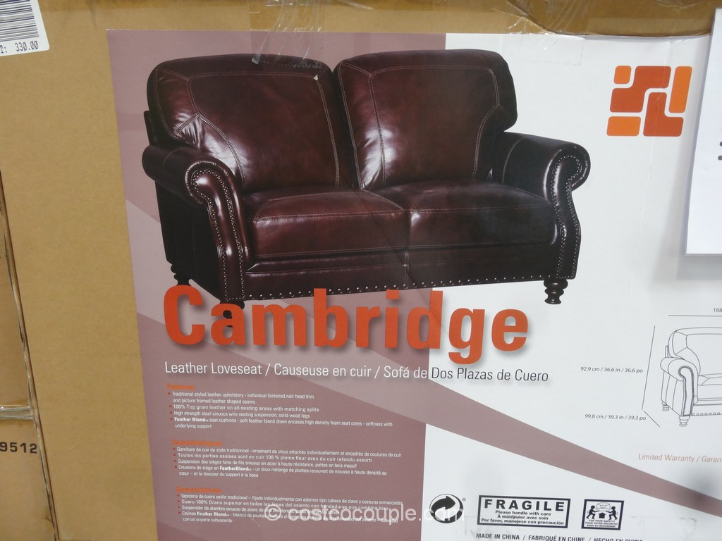 Marks And Cohen Lansing 2 Piece Leather Sectional