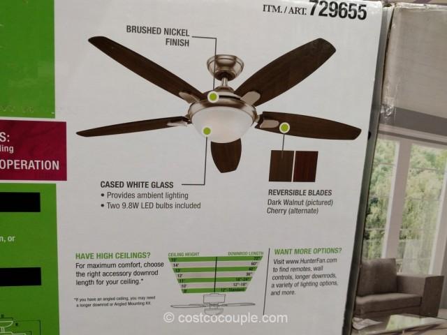 Hunter Designer Series 54 Inch Ceiling Fan Costco 5