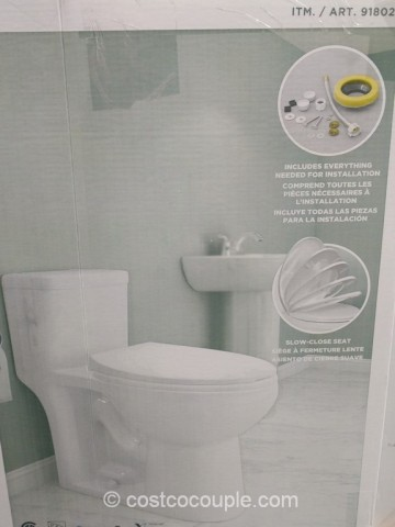 Waterridge One Piece Elongated Dual Flush Toilet Costco 5