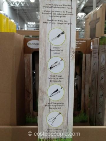 Alterra Wood Handle Stainless Steel Garden Tool Set Costco 2