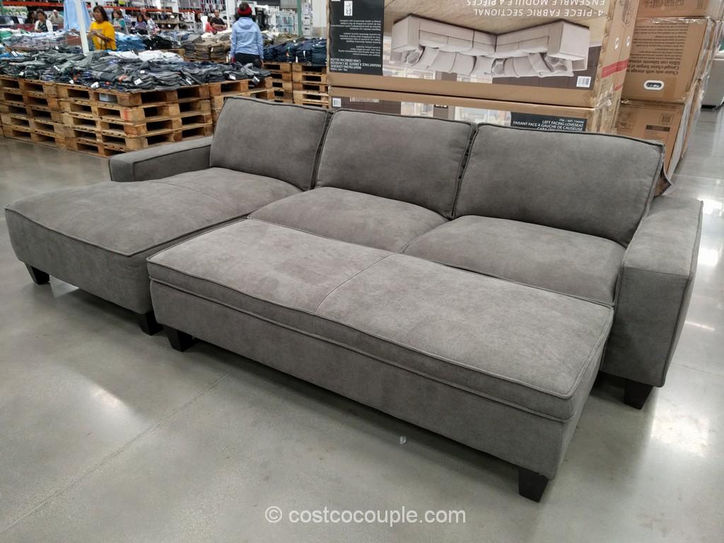 Chaise Sofa with Storage Ottoman Costco 2