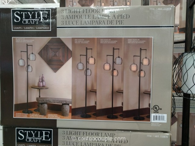 Stylecraft 3 Light Floor Lamp Costco 6