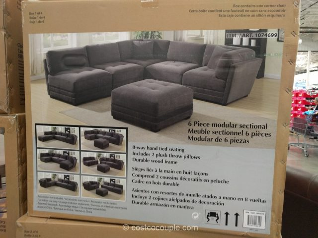 6 Piece Modular Fabric Sectional 2017