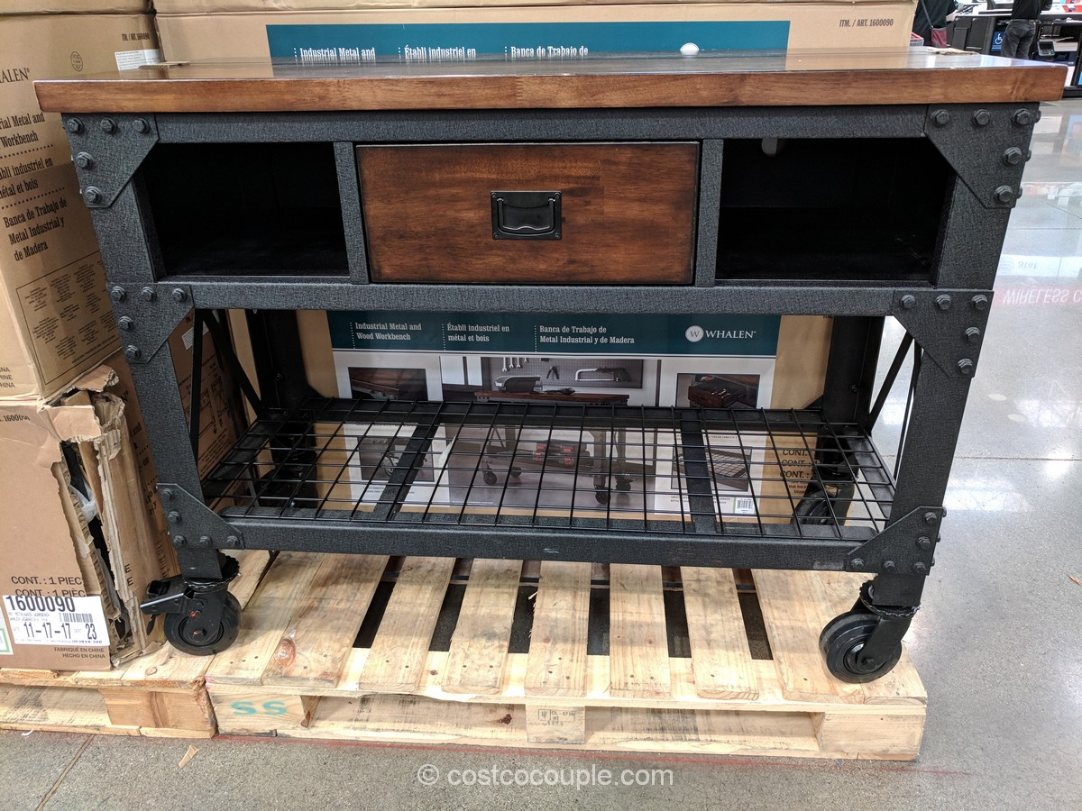 whalen industrial metal and wood workbench