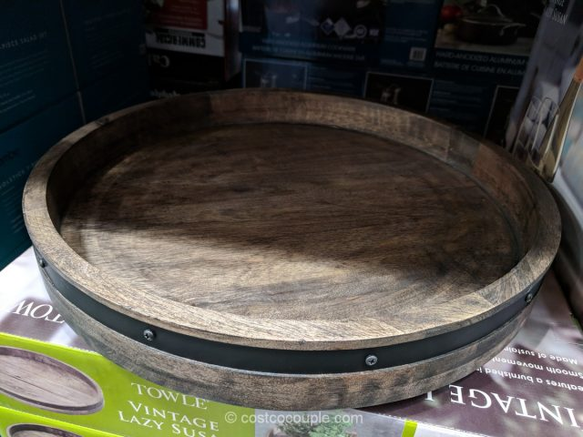 Towle Wood And Iron Lazy Susan