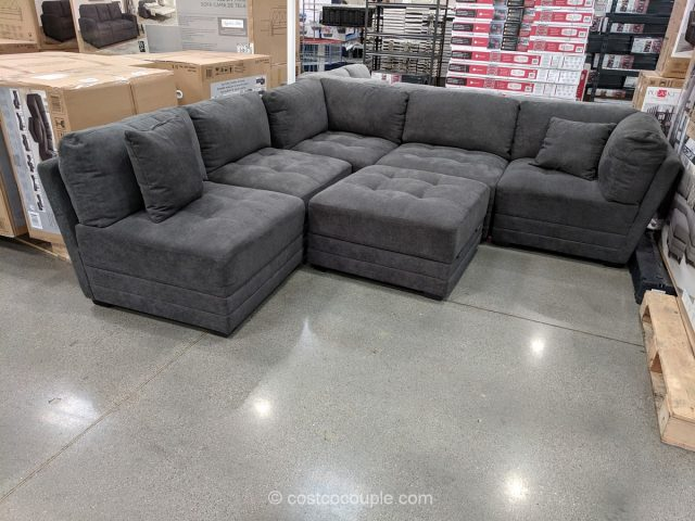 6 Piece Fabric Modular Sectional Jan 2019